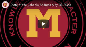 May 28,2020 State of the Schools Address